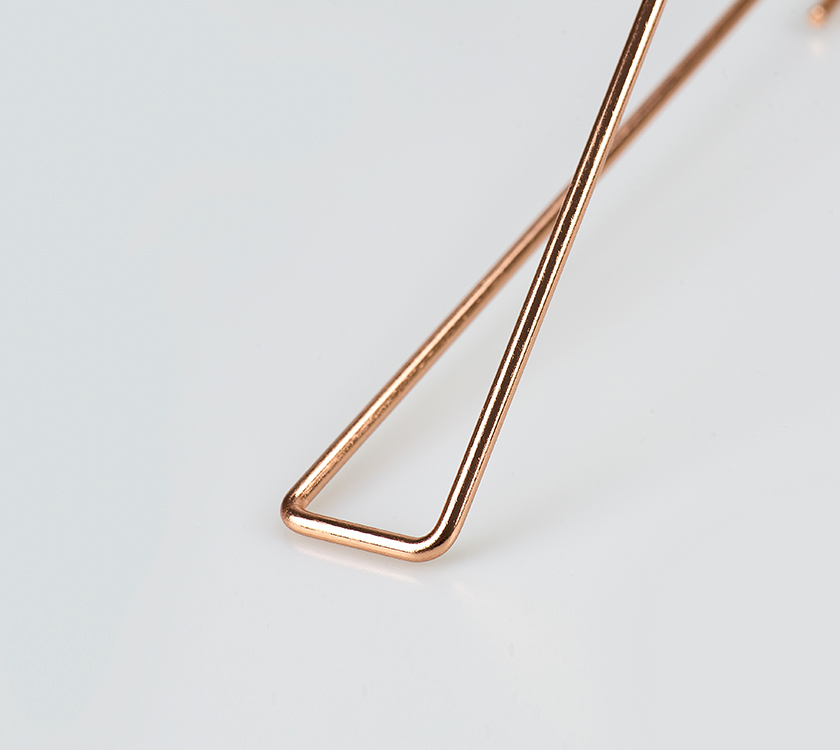 rose gold kids metal hanger