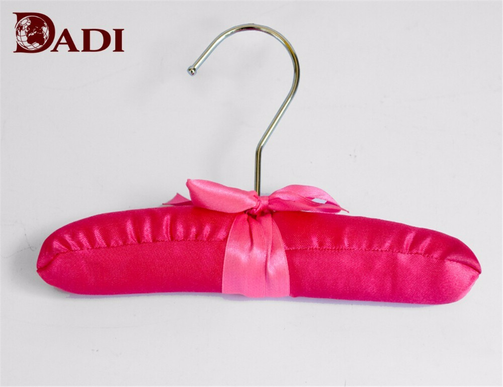 Red Padded Baby Satin Hangers With Bowknot