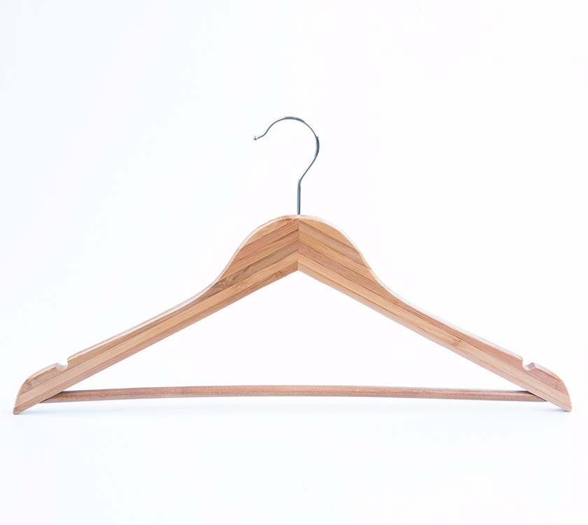 Bamboo Textile Clothes Hangers For Garment Display