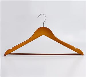 Guard Against Theft Hotel Style Wood Clothes Hangers