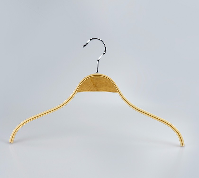 Natural Laminated Plywood Garment Clothes Hanger