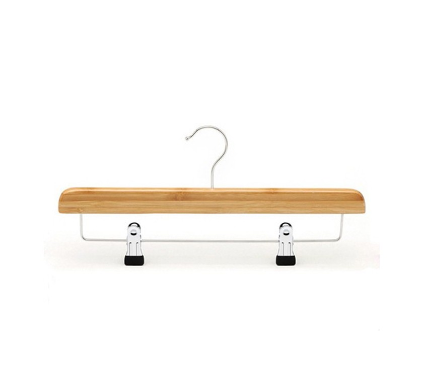 Natural Clips Bamboo Cloth Hanger For Pant
