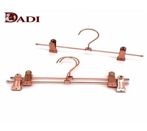 Luxury Rose Gold Metal Pant Hanger With Clips