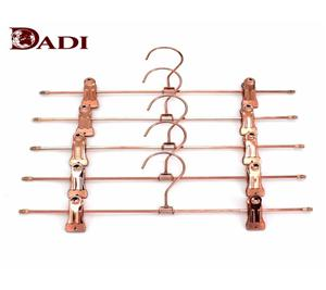 Metal Gold Clip Trousers Hangers For Laundry