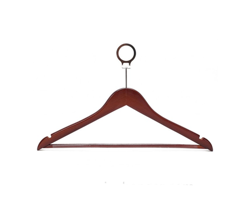 Anti Theft Wood Hotel Hanger For Clothes
