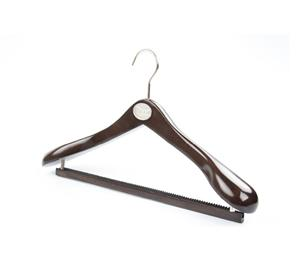 Đen Wide vai Luxury gỗ Hanger Suit