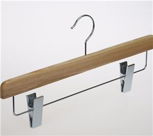 Brand Wood Pants Hanger Stand With Clips