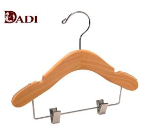 Cute Wooden Baby Hangers Clips For Pants