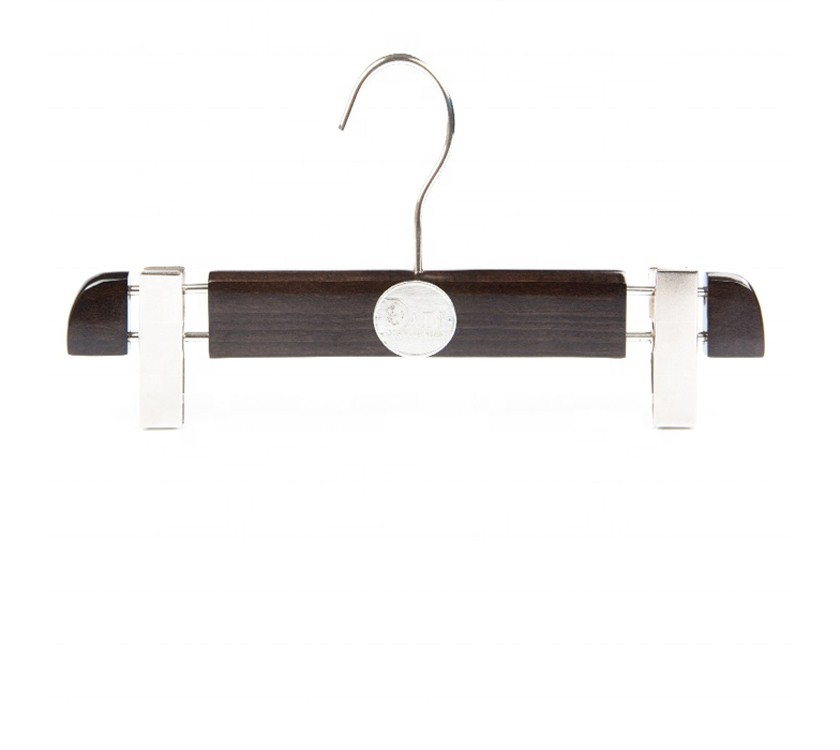 Luxury Wooden Clamping Trouser Hanger For Garment
