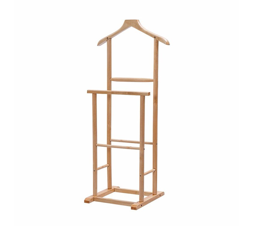 Luxury Wooden Floor Standing Hanger For Suit