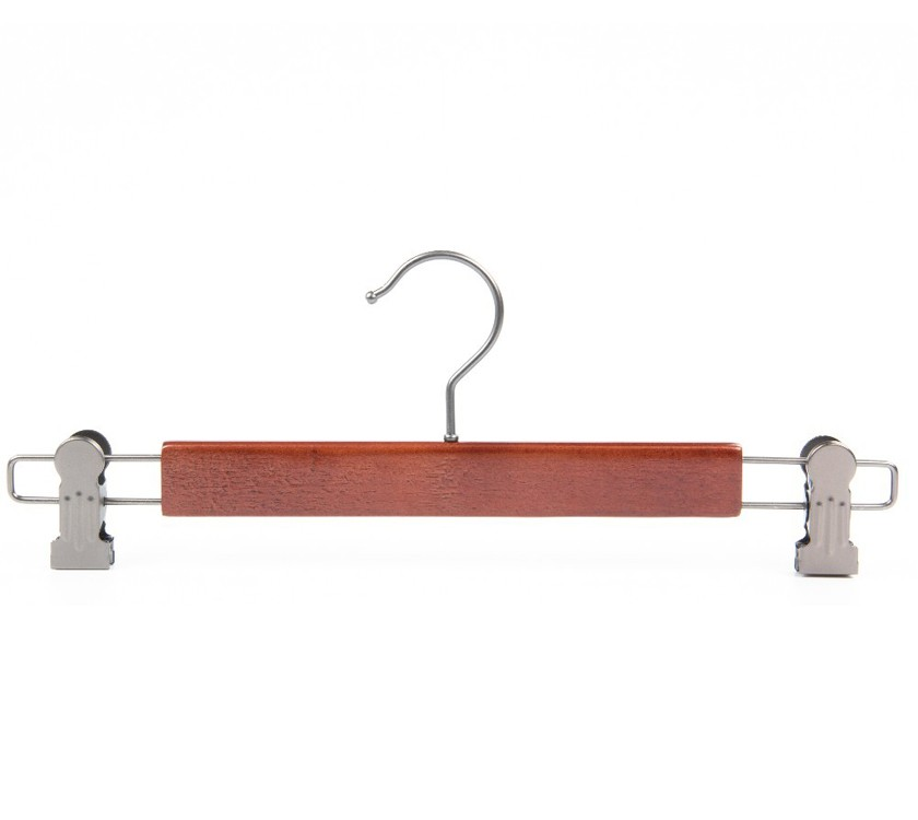 Luxury Wooden Trouser Hanger With Clips