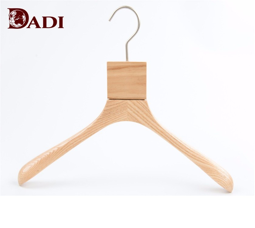 Wooden Garemnt Display Coat Hanger Stand With Hooks