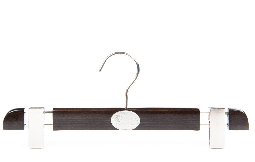 luxury wooden clamping trouser hanger