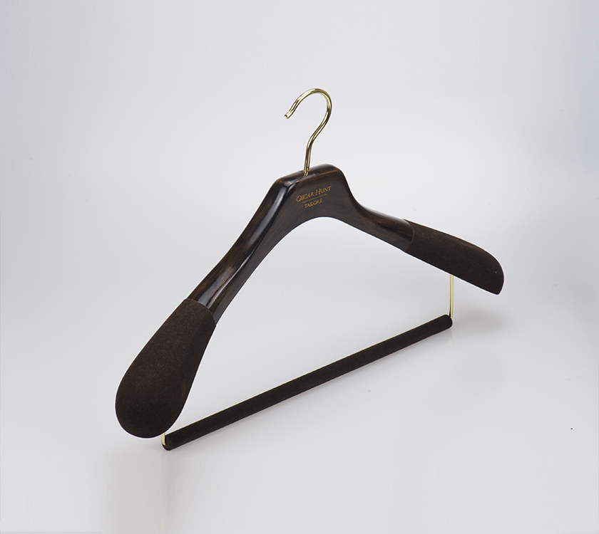 black velvet coat hanger
