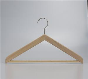 Natural Wooden Triangle Hanger Garment Display