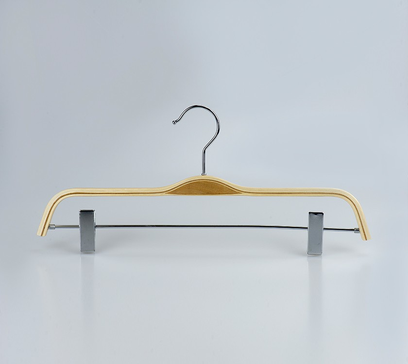 Natural Laminated Pants Hanger For Display