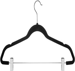 Wholesale Magic Strong Velvet Clothes Hanger With Clips
