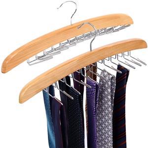 Suministro de percha de madera de lujo para corbata