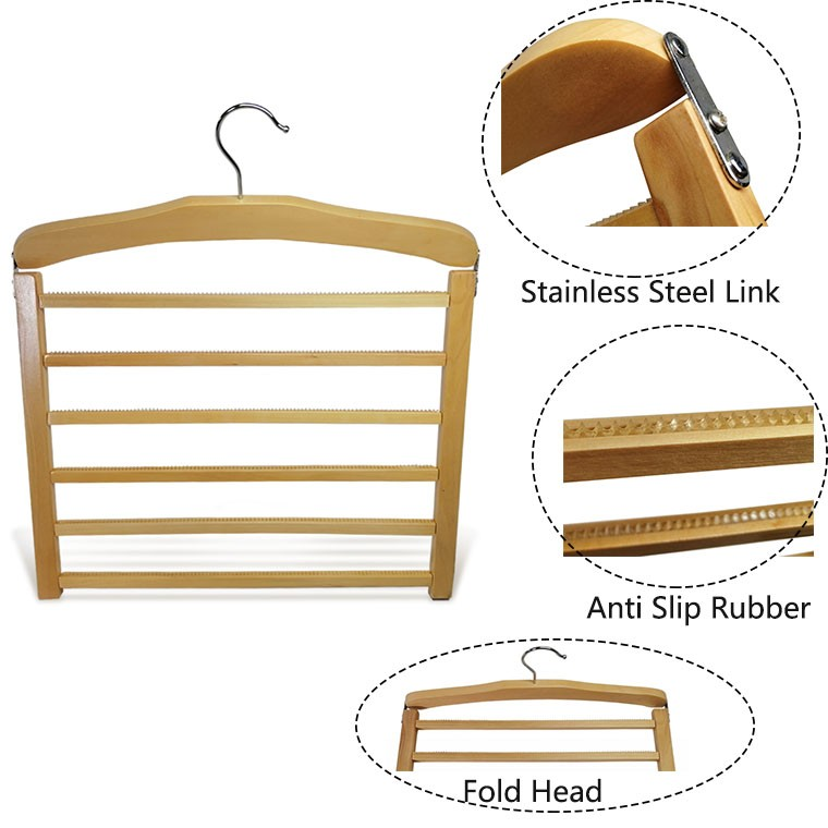 Luxury Wooden Non Slip Trousers Hanger With 5 Pcs Bar Manufacturers, Luxury Wooden Non Slip Trousers Hanger With 5 Pcs Bar Factory, Supply Luxury Wooden Non Slip Trousers Hanger With 5 Pcs Bar