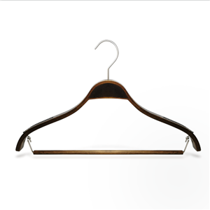 Antique Plywood Display Coat Hanger With Remove Bar