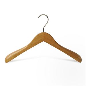 Perchas de ropa de bambú de lujo amistosas E