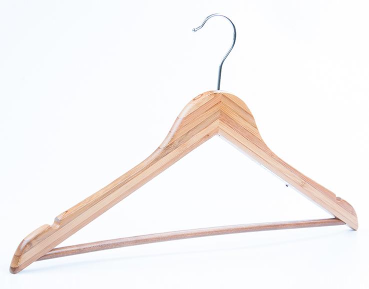 perchas textiles de bambú