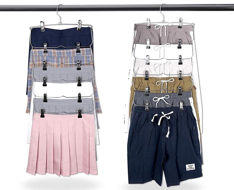 cabides de metal para roupas com clipe