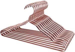 Rose Gold Strong Durable Metal Clothes Hangers For Garment