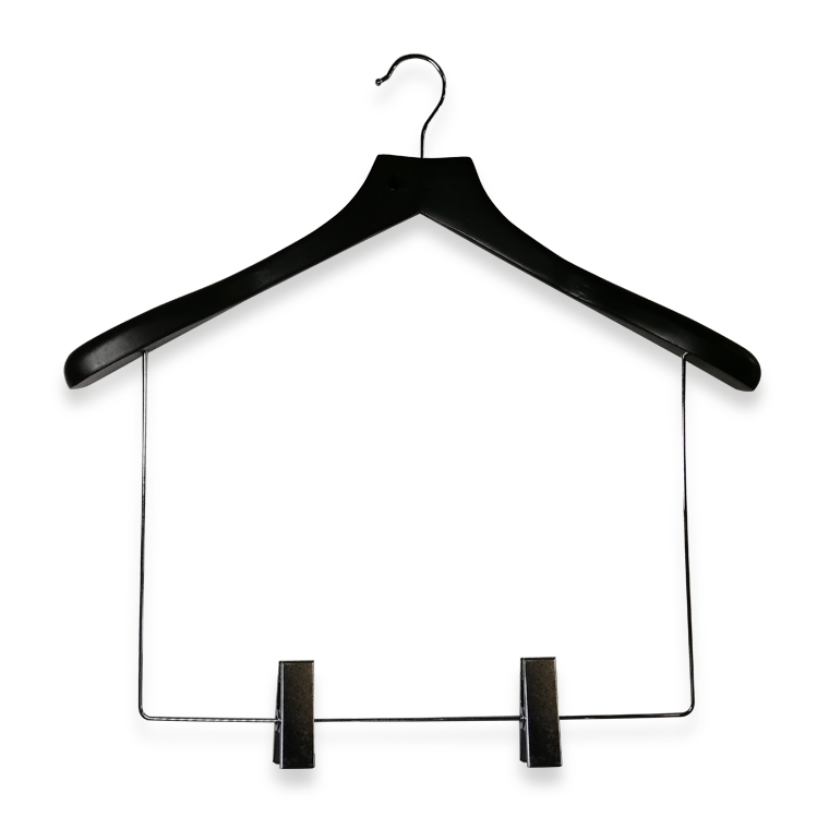 Balck Wooden Display Suit Hanger With Long Link Manufacturers, Balck Wooden Display Suit Hanger With Long Link Factory, Supply Balck Wooden Display Suit Hanger With Long Link