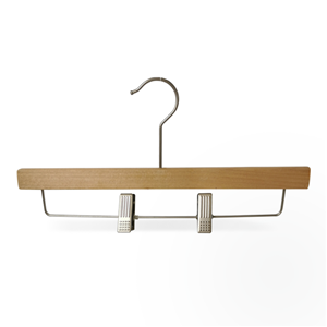 Wooden pants Hanger with strong clips
