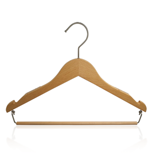Luxury Wooden Shirt Hanger With Anti Slip rubber