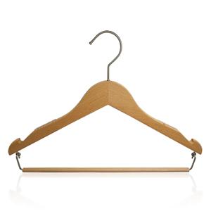 Colgador de camisa de madera de lujo con goma antideslizante
