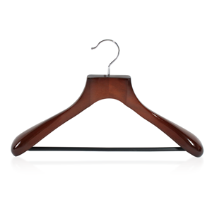 Supply Wide Shoulder Luxury Wooden Suit Hanger With Bar