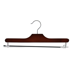 Wooden bottom Hanger With Moving Metal Bar
