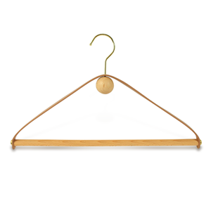 Supply Luxury Garment Soft Leather Hanger For Clothing