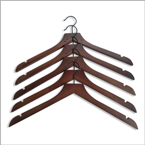 In Stock Wooden Shirt Hanger For Garment Display