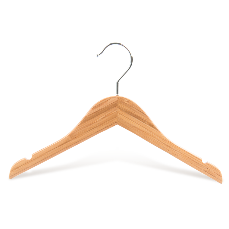 Anti Slip Luxury Bamboo Baby Clothes Hangers