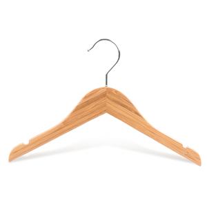 Perchas de bambú de lujo antideslizantes para la ropa del bebé