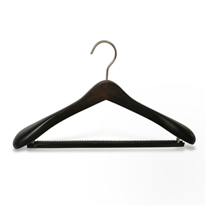 Broad Shoulder Luxury Wooden Suit Hanger With Non Slip Bar
