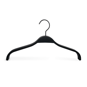 Colgador de ropa de madera contrachapada Balck para exhibición de camisa blusa