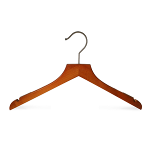 Wooden Non Slip Clothes Hanger With Notch
