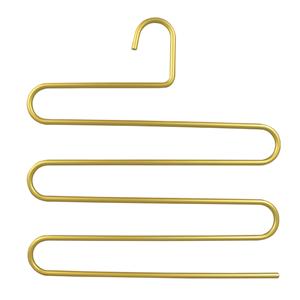 Robusti ganci per pantaloni in metallo pesante oro multifunzione a 5 strati