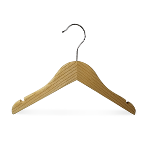 Luxury Brand Wooden Baby Short Clothes Hangers