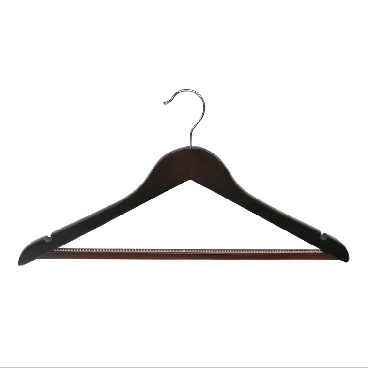 Hot wholesale Wooden Garment Hanger With Non Slip Pants Bar