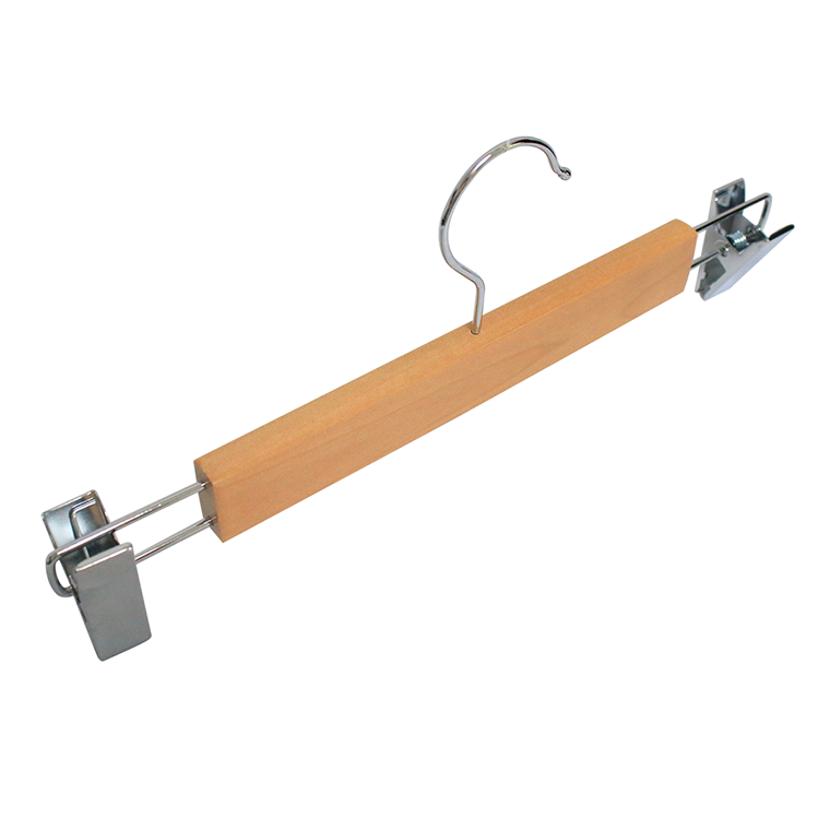 Factory Supply Luxury Solid Wooden Pants Hanger With Clips Manufacturers, Factory Supply Luxury Solid Wooden Pants Hanger With Clips Factory, Supply Factory Supply Luxury Solid Wooden Pants Hanger With Clips