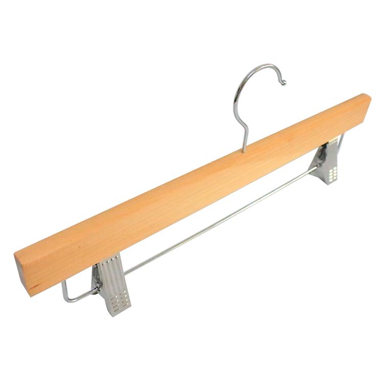 Wholesale Deluxe Wooden Bottom Hanger with Adjustable Clips Manufacturers, Wholesale Deluxe Wooden Bottom Hanger with Adjustable Clips Factory, Supply Wholesale Deluxe Wooden Bottom Hanger with Adjustable Clips