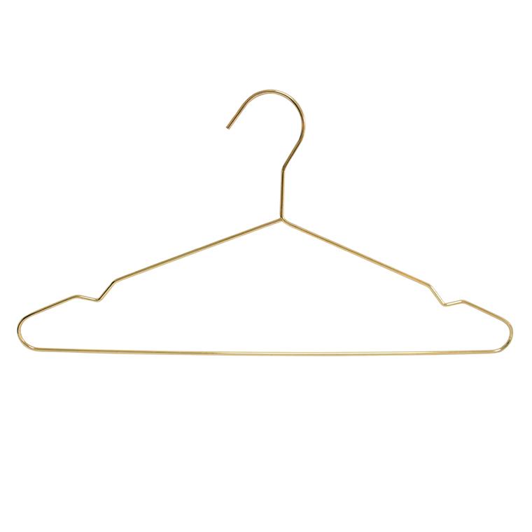 Móc treo quần áo bằng kim loại vàng để trưng bày hàng may mặc
