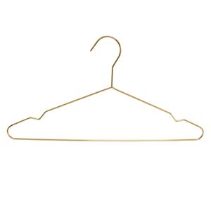 Cintre en métal doré pour présentoir à vêtements