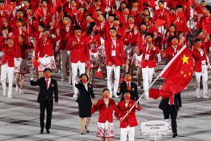 Dadi Hanger, Çinli sporculara büyük başarılar diler