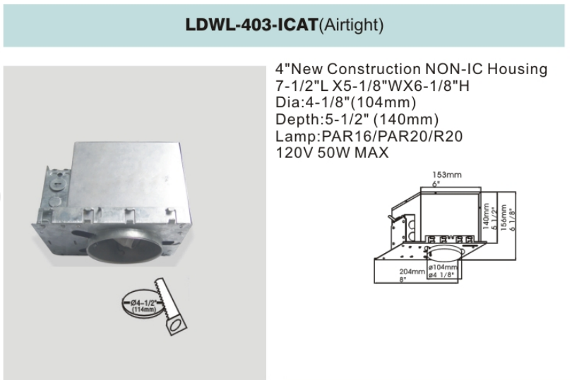 led recessed down light